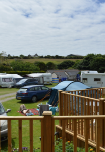 Campsite near Lands End Cornwall